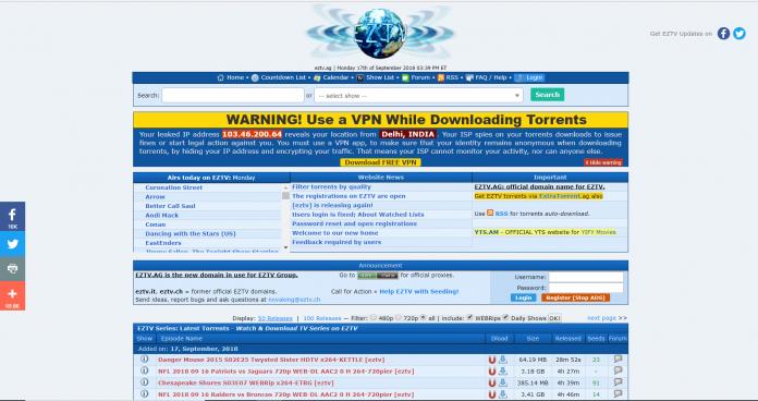 Top 10 best torrent sites- eztv