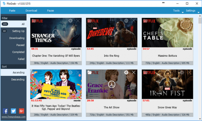 FlixGrab: This app allows you to download and save any Netflix video