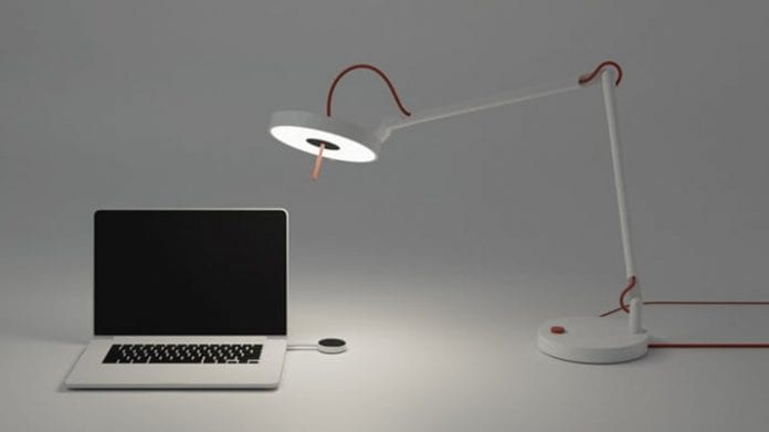 MyLiFi: A smart lamp that beams broadband to your laptop
