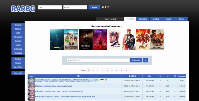 top 10 best torrent site- RARBG