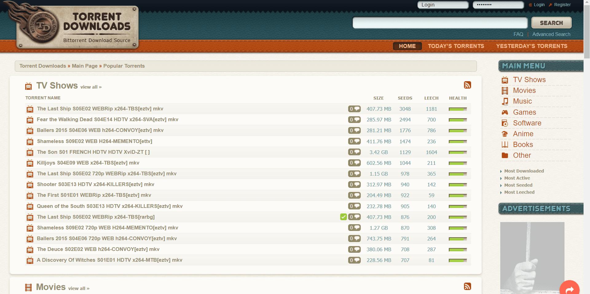 top 10 best torrent sites- torrent downloads