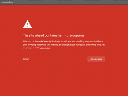 Torrentz2 blocked on Google Chrome and Firefox over 'harmful programs'
