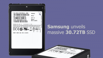 Samsung unveils massive 30.72TB SSD, largest capacity SSD ever