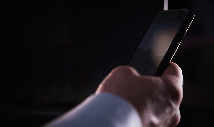 Hand with Smartphone Closeup