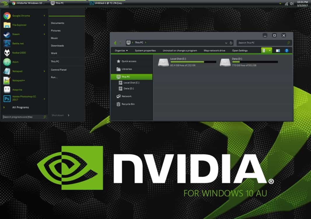 nvidia theme - Best Windows 10 Themes and Skins