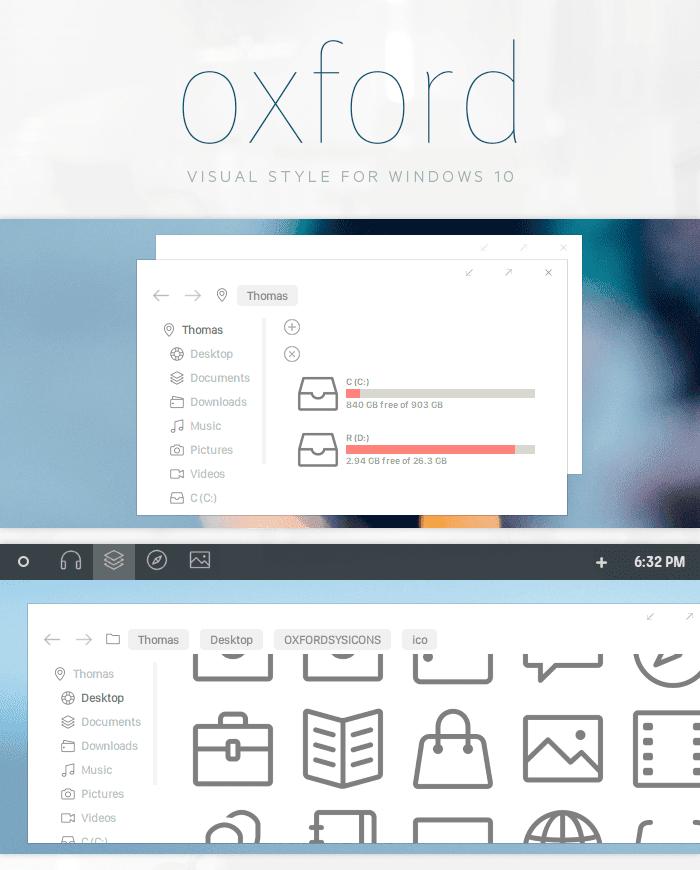 oxford theme- best windows 10 themes