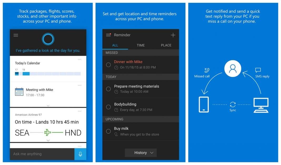 Cortana-Update-Android