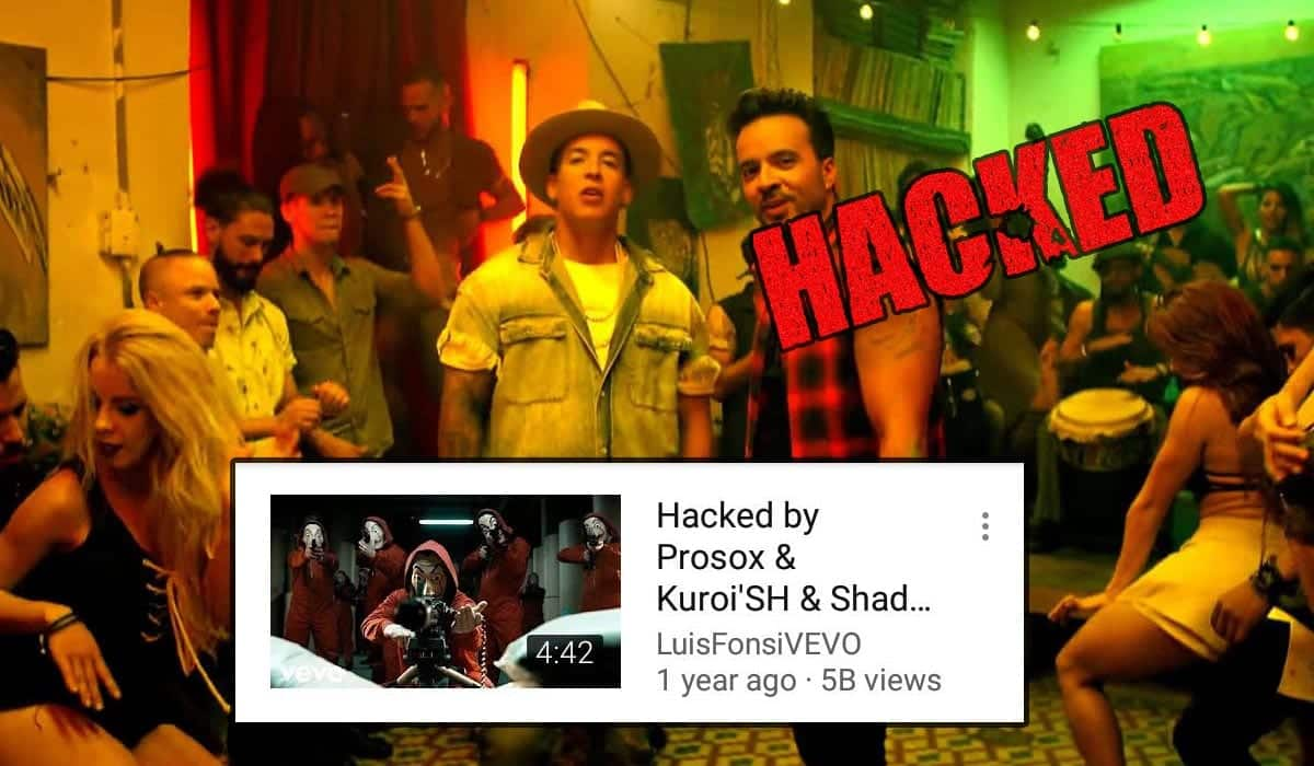 Despacito youtube video has been hacked and deleted despacito is hacked stopboris Choice Image