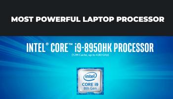 Powerful laptop processor by INTEL