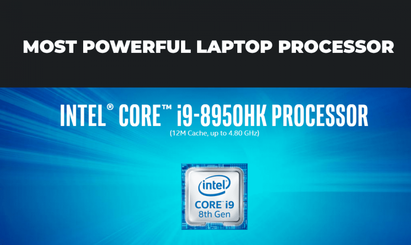Powerful laptop processor by INTEL