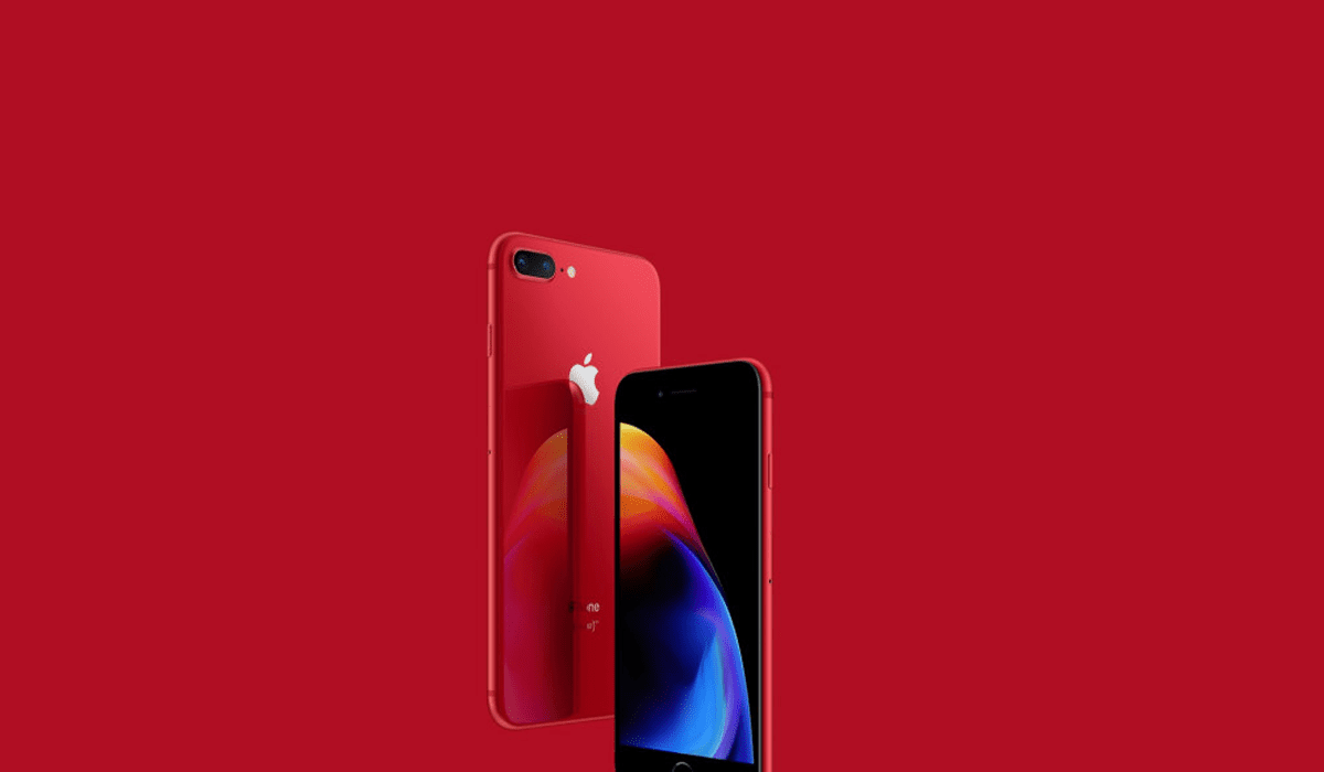 Iphone  Plus Red Black Front