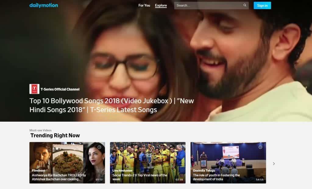dailymotion - youtube alternative
