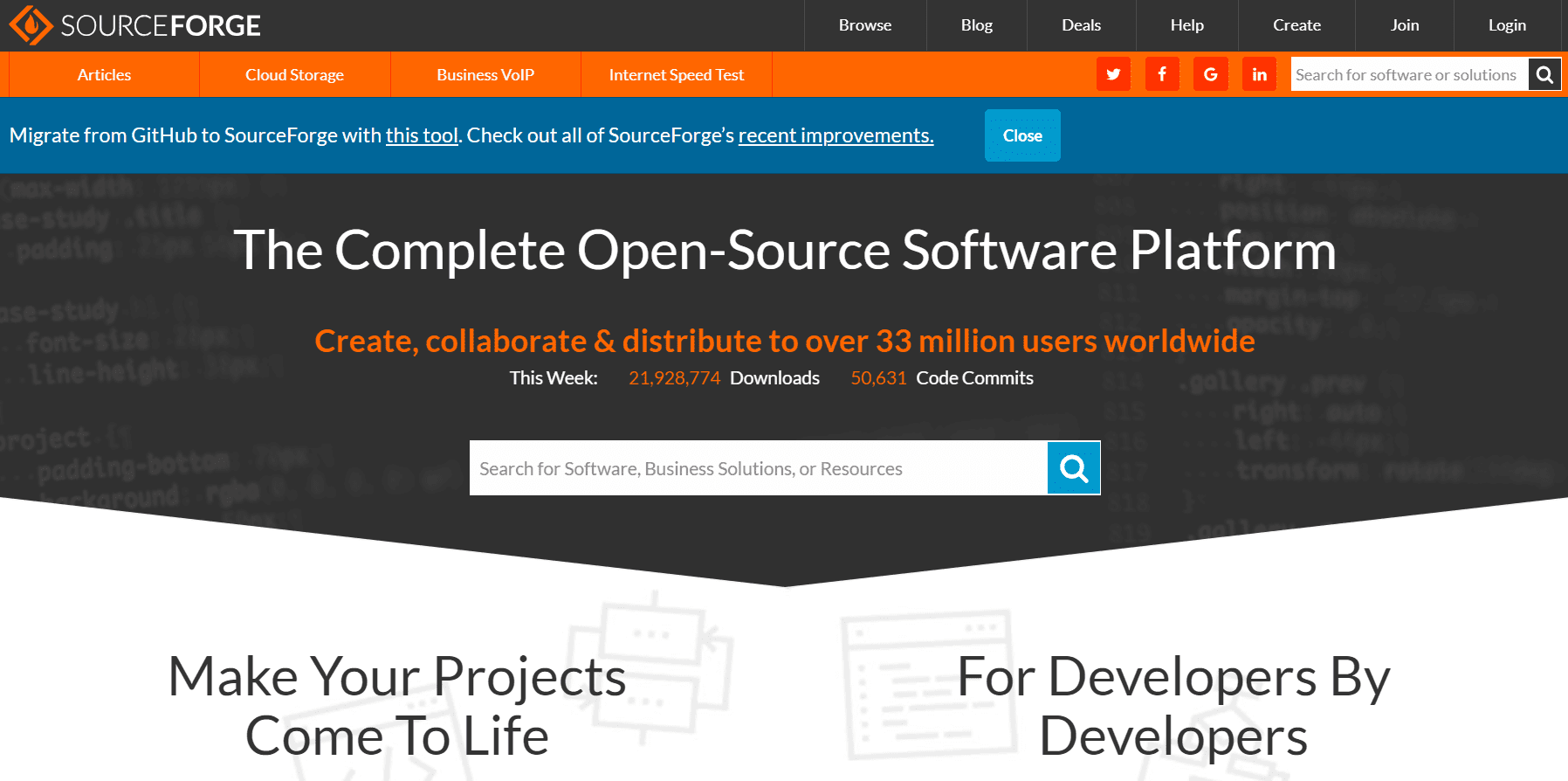 5 Best GitHub Alternatives To Host Open Source Projects- sourceforge