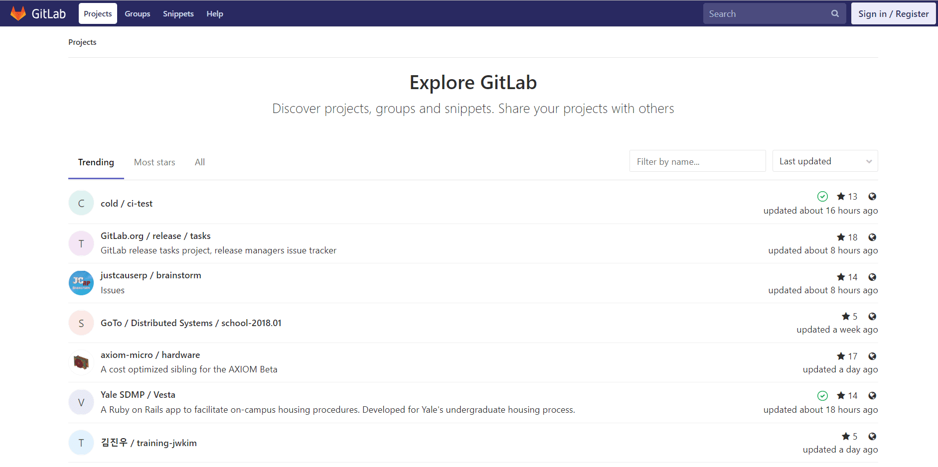 5 Best GitHub Alternatives To Host Open Source Projects- Gitlab
