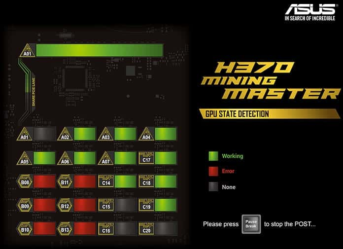 ASUS's new motherboard for crypto-mining can hold 20 GPUs