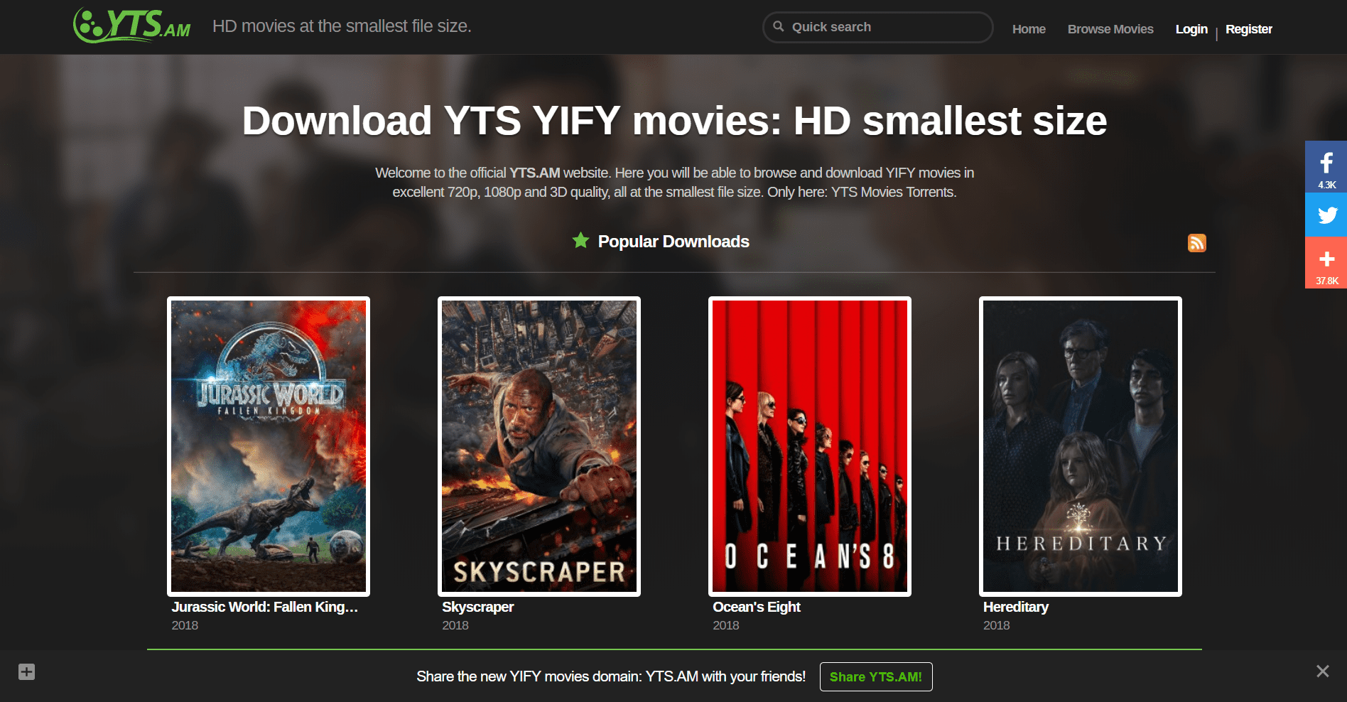 yts- the pirate bay alternatives