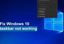 How to fix Windows 10 taskbar not working?
