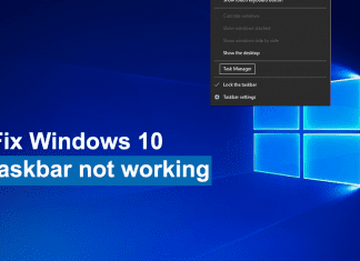 How to fix Windows 10 taskbar not working?