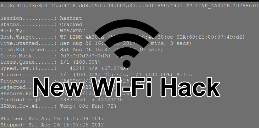 Wifi password hacking: Easily Hack WiFi Password Using New WPA/WPA2 flaw