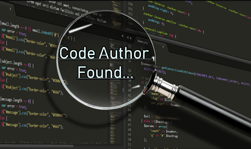 Machine Learning Could Help Identify Author of an Anonymous Code