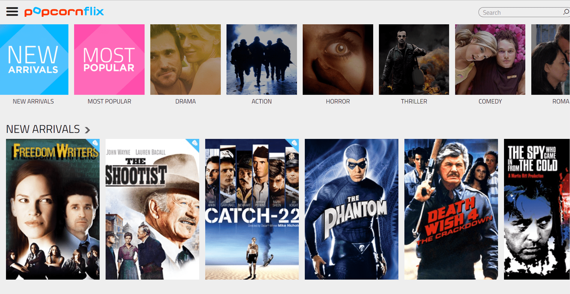 Watch free movies online- Popcorn Flix