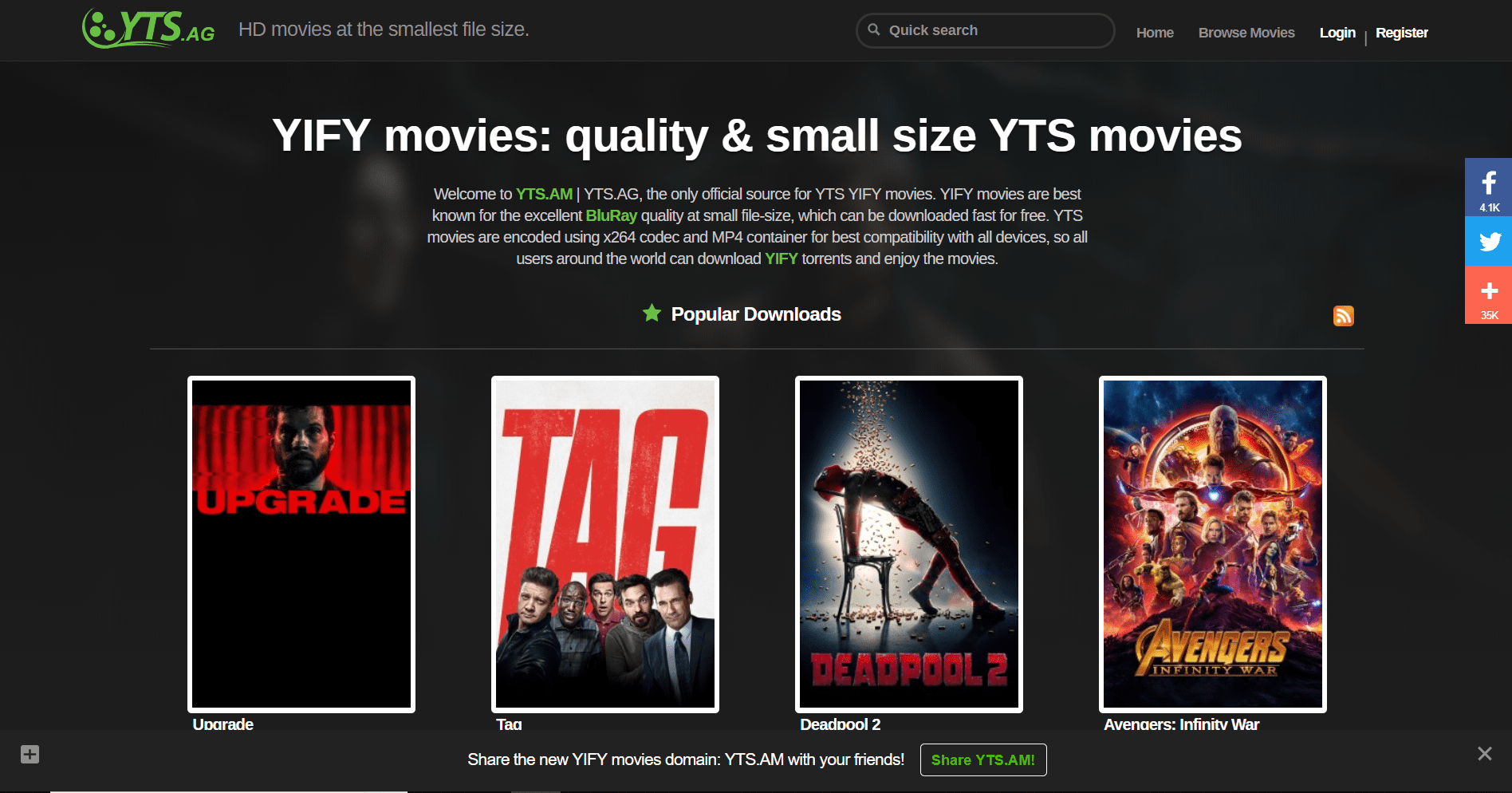 idope alternative-best torrent site- yts aka yify