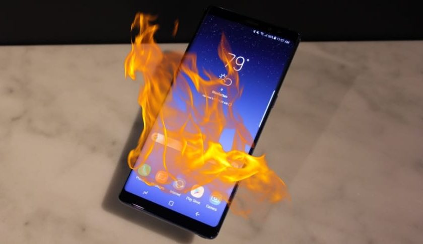 Samsung's Galaxy Note 9 catches fire in woman's purse