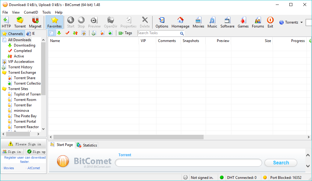 bitcomet - Free Torrent Clients