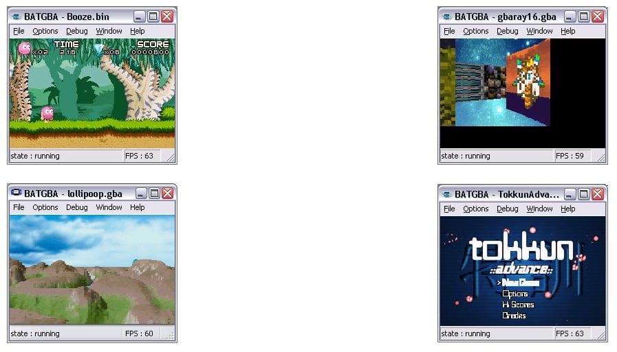 BatGa a GBA emulator for PC