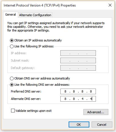 Fix DNS_PROBE_FINISHED_NXDOMAIN error