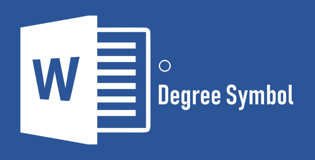 Insert Degree Symbol In Ms Word 2018