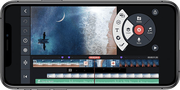 video editing on iPhone using kinemaster