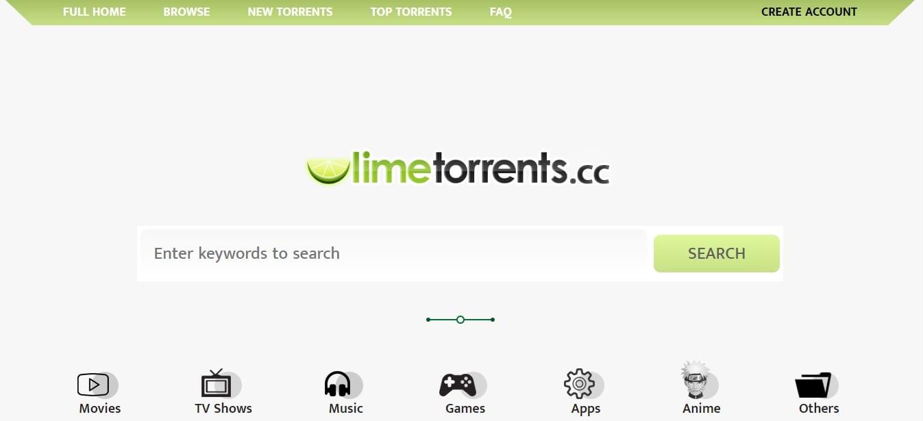 limetorrents, a site like rarbg to download torrents