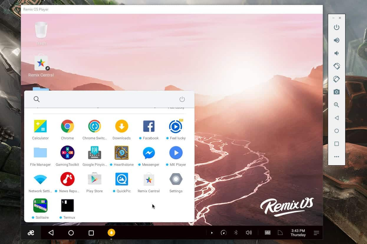 remix os player for windows 10