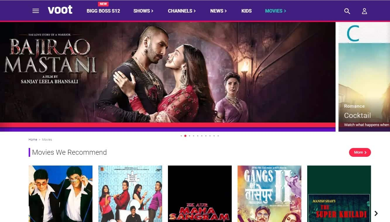 online bollywood movie websites for free without downloading