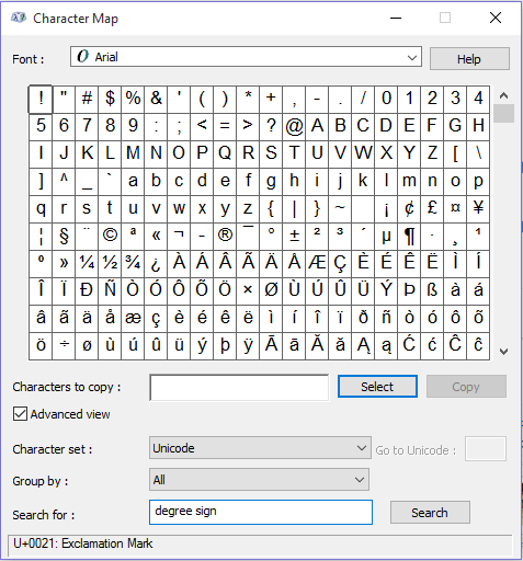 Methods To Insert Degree Symbol In Ms Word 2018