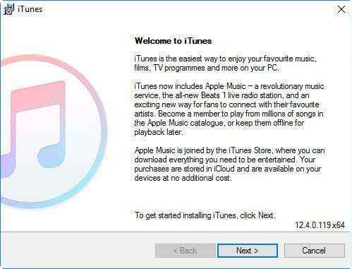 download and install itunes on Windows 10