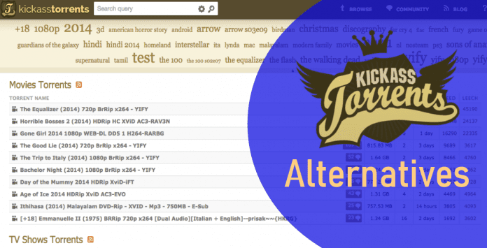 Kickass Torrents Alternatives- 2018 | Sites Like KAT (Working)