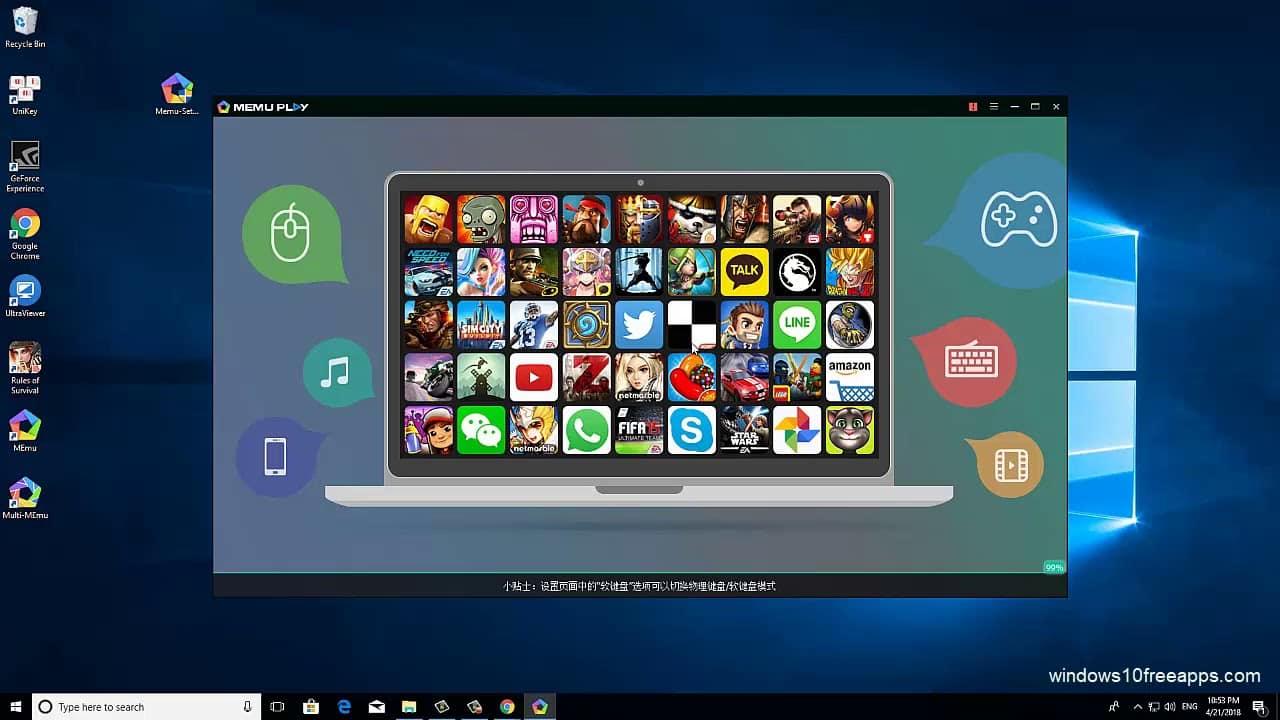 memu player for windows pc
