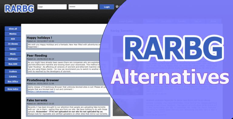 RARBG Alternatives : Torrent Sites To Download Free Movies