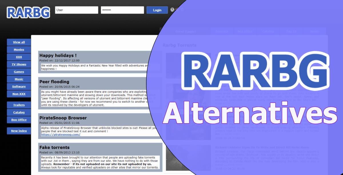 RARBG Alternatives for downloading torrents