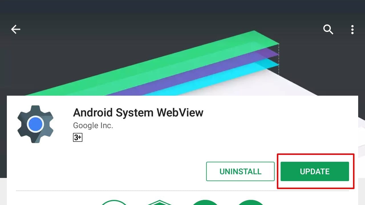 Android System Webview Probleme