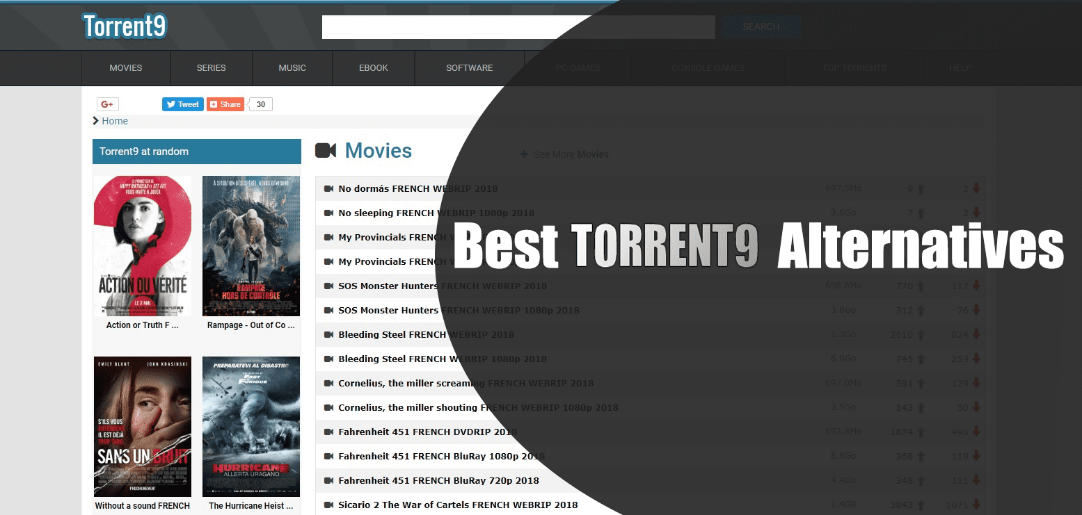 Best Torrent9 Alternativesl
