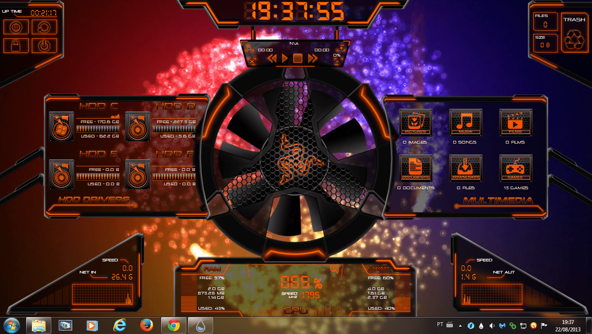 hardware - best rainmeter skin for windows PC