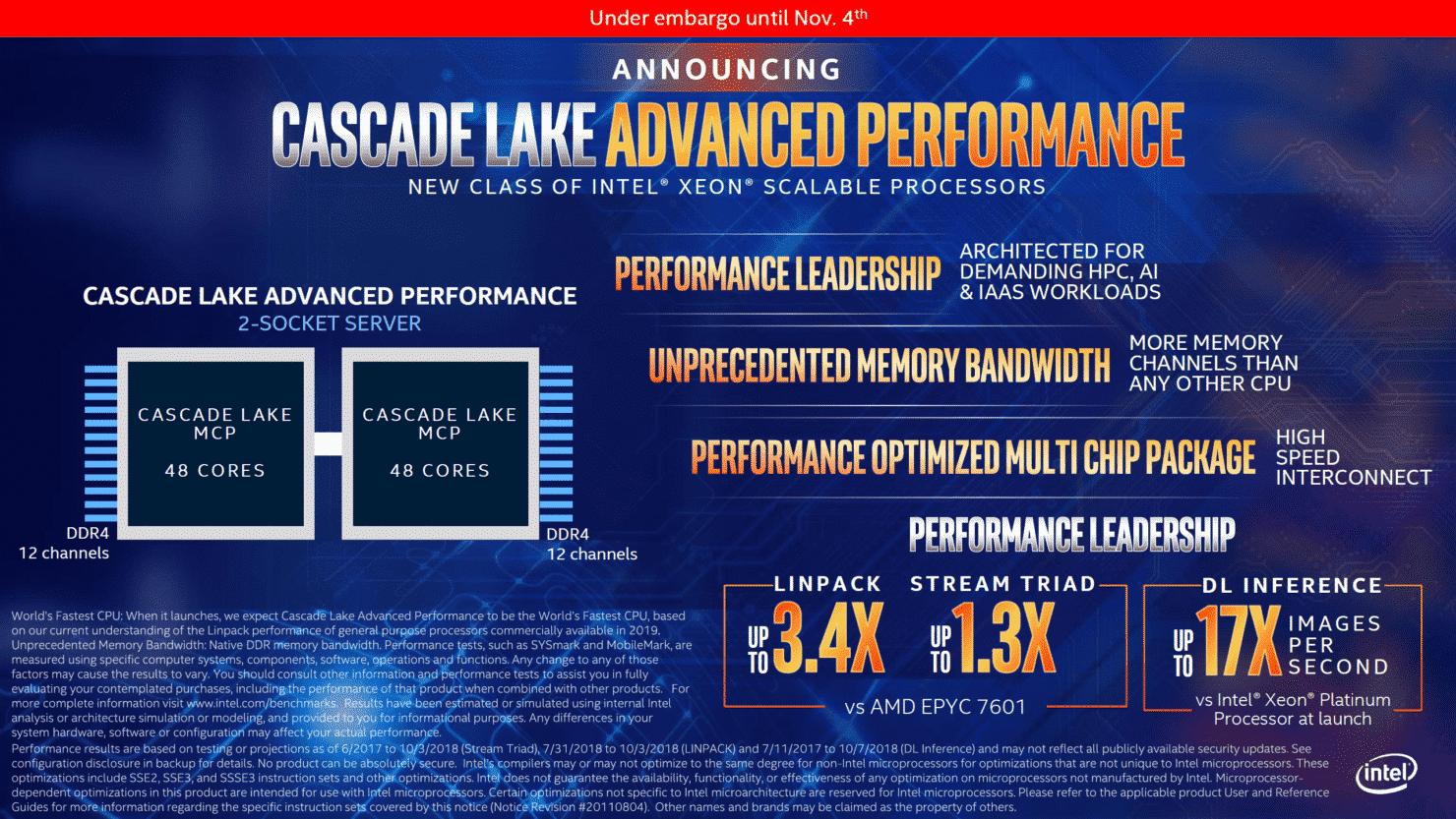 Intel Launches 48-Core Cascade Lake EP, Xeon E-2100 Processors
