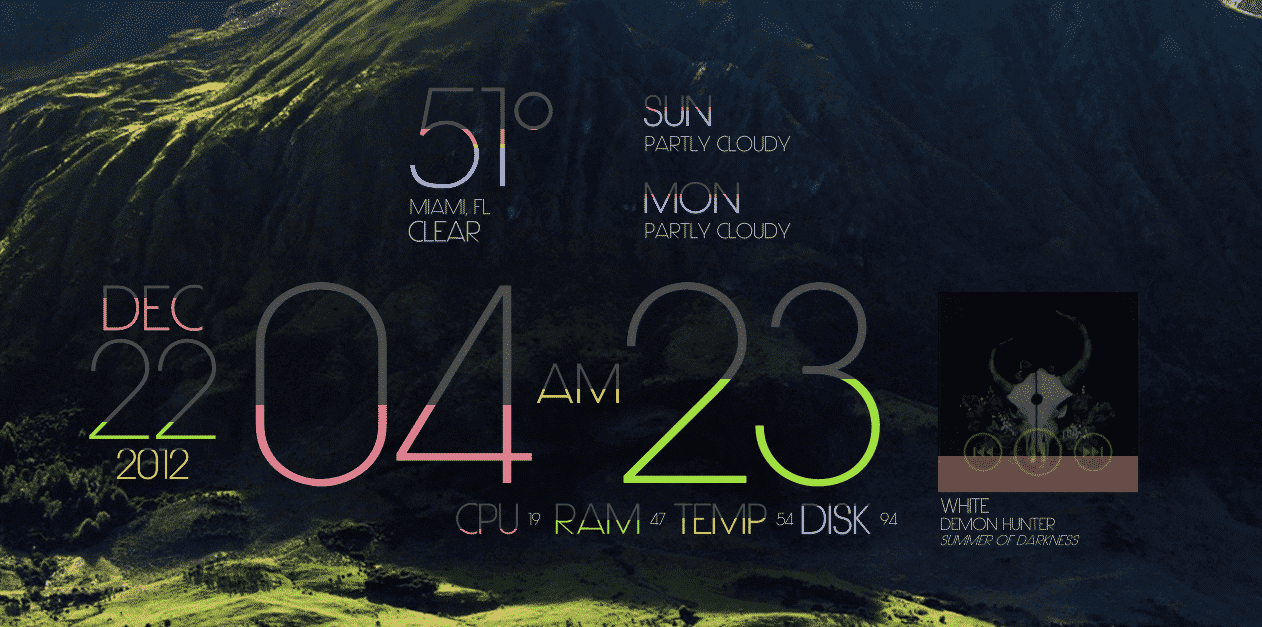 lim!t - best rainmeter skin for windows PC