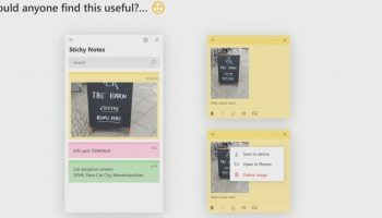 Microsoft's Sticky Notes To Add Support For Images