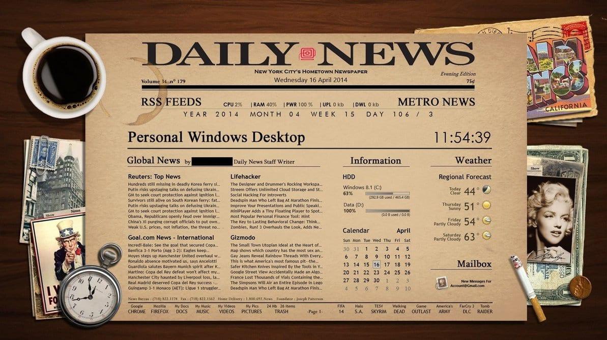 best rainmeter skin for windows PC