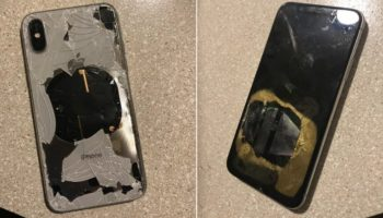 iPhone X explodes after iOS 12.1 Update