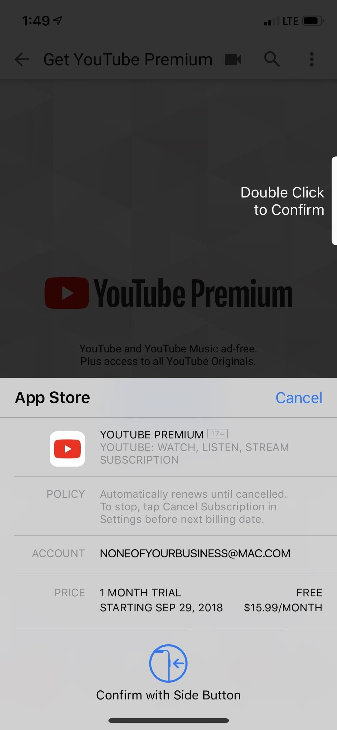 youtube playback error